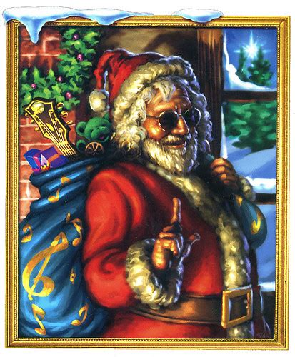 Jerry Garcia (of the Grateful Dead) Santa Claus -- Merry C