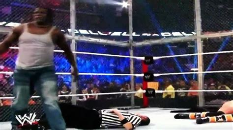 WWE- The Miz and R-Truth Attack at Hell in a Cell! - YouTube