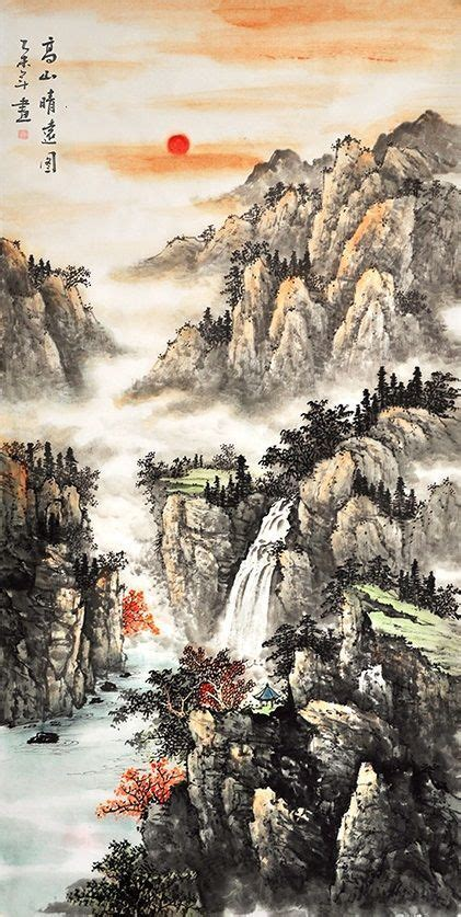 Chinese scroll painting Nature art for sale Scenery Landscape Painting【2019