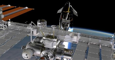 SpaceX stainless steel Starship docked to ISS by Reese
